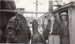 Guy and Helen Boggess and Dad probably early to mid 1950's after deer hunt020